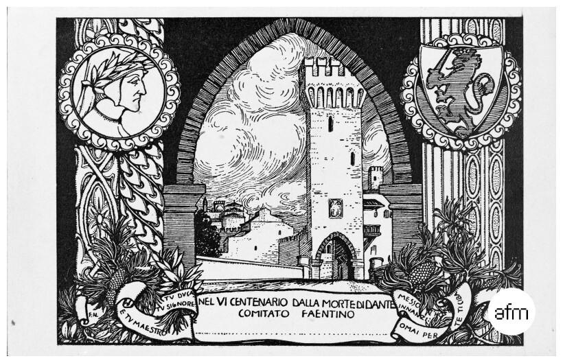 incisione per le celebrazioni dei 600 anni di dante